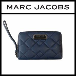 Marc By Marc Jacobs Blue Leather Zip Wallet